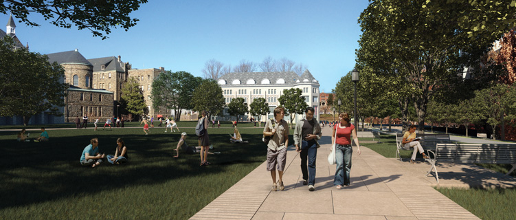 Rendering of the future of campus